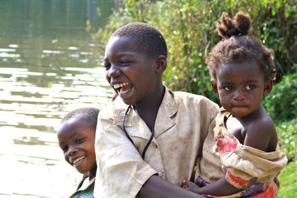 Children from Lake Bunyonyi