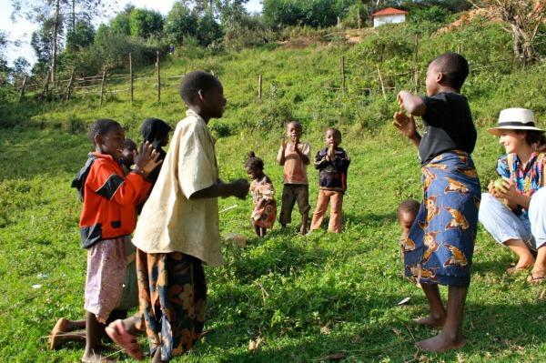 Cheeky children of Lake Bunyonyi. Edwina Storie