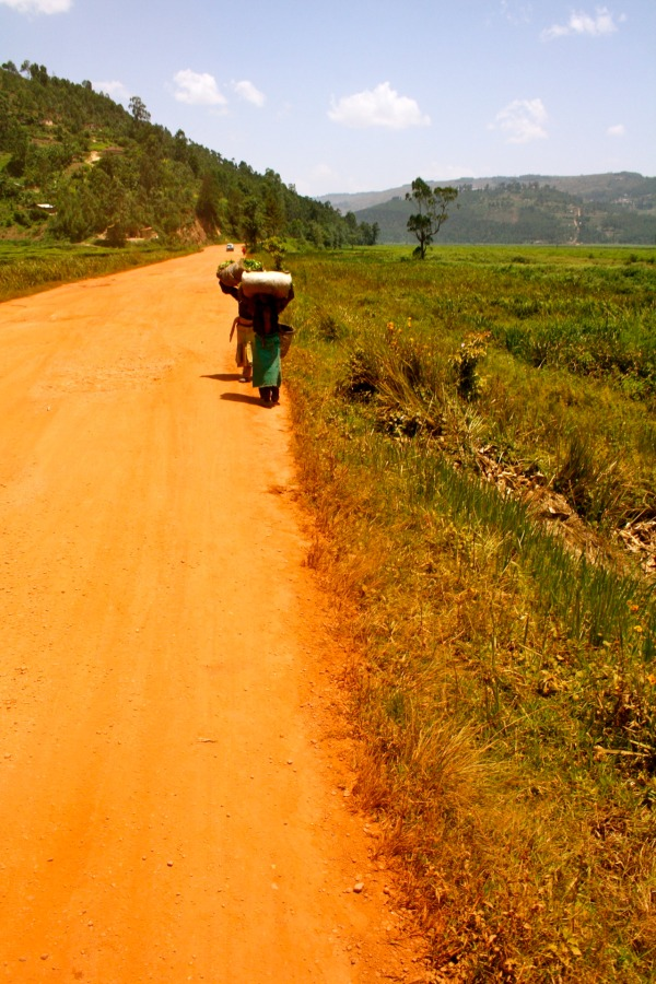 The border between Rwanda and Uganda